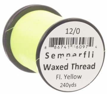 Classic Waxed Thread 12/0 240 Yards - Fluoro Yellow