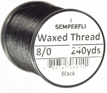 Classic Waxed Thread 8/0 240 Yards - Black