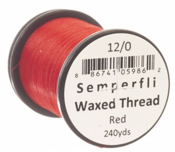 Classic Waxed Thread 12/0 240 Yards - Fluoro Red
